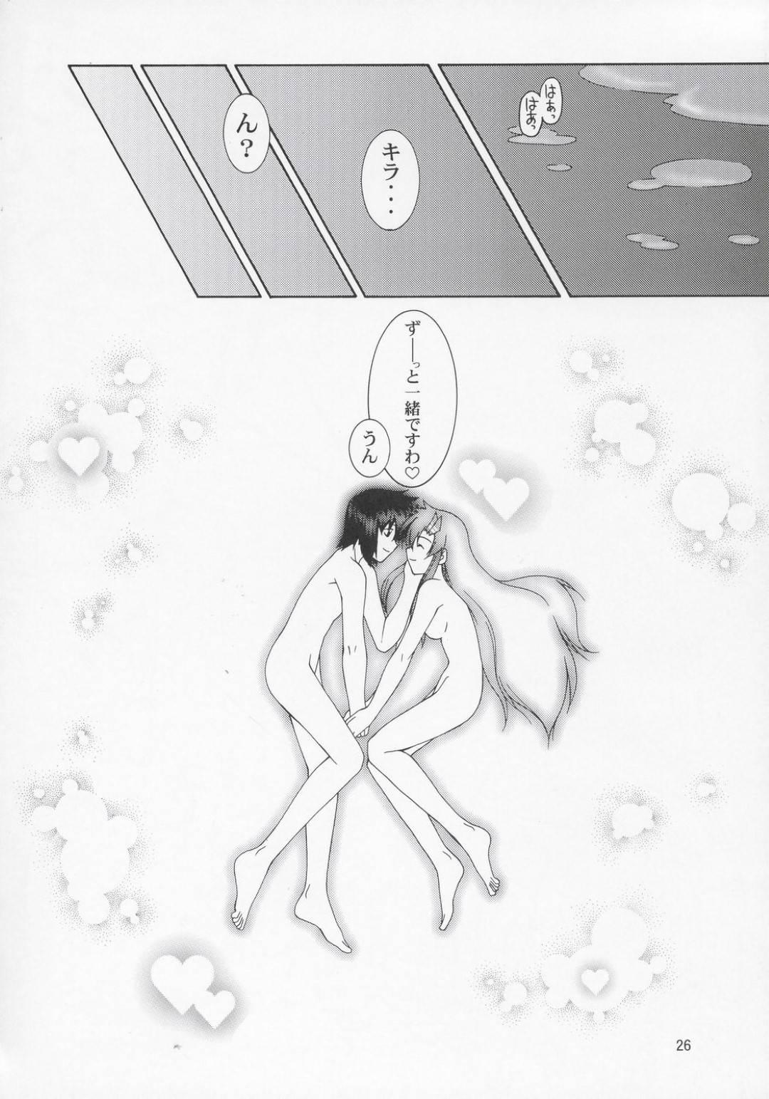 【エロ漫画】キラと二人きりの部屋でエッチな事を求められたラクス。まんざらじゃない彼女は彼に委ねるようにディープキスされ、そのまま正常位でチンポを生挿入されて中出しセックスへと発展。